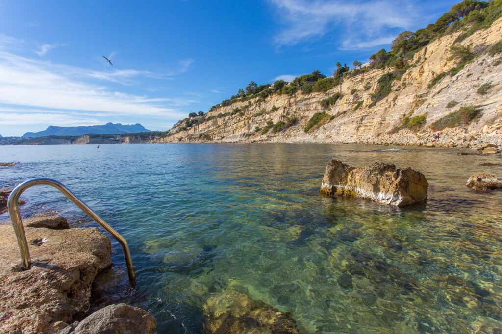 Cala Punta estrella o Cap Blanc - Moraira - beach houses valencia